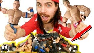 HUGE PILE of RARE WWE TOYS!! Old School Jakks & a Mattel Lost Treasure at THRIFT SHOP!!