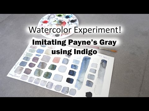 Watercolor Experiment! Imitating Payne's Gray Using Indigo