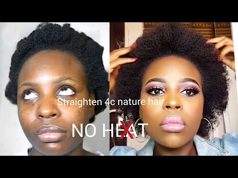 How I Straighten My Thick 4C Natural Hair Without Heat