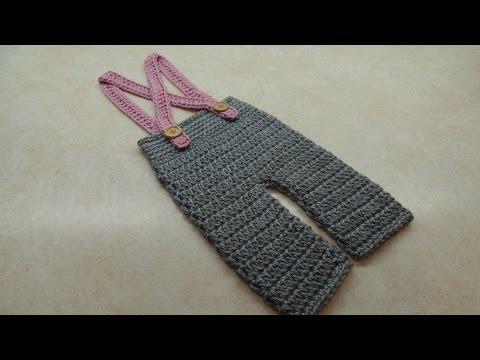 CROCHET How To #Crochet Baby Pants Crochet Newborn Suspenders #TUTORIAL #313 LEARN CROCHET