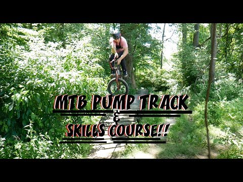 RIDING A PUMP TRACK AND SKILLS COURSE!