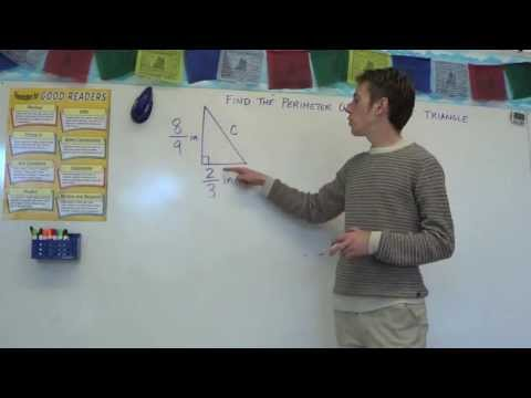 Pythagorean Theorem with Fractions