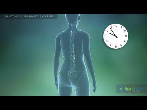 Pregnancy back pain. Symptoms