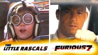 Little Rascals as Furious 7 - Trailer Mix (Side by Side Comparison)