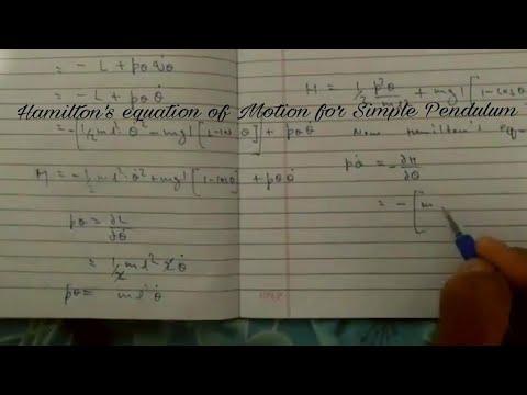 Hamilton's equation for Simple Pendulum