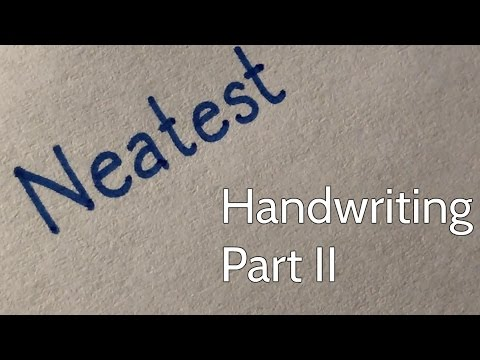 The NEATEST Handwriting in the WORLD! Part 2!