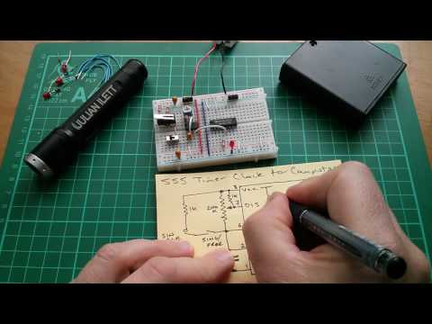 555 Timer Clock Circuit (part 2 - with schematic)