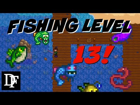 Fishing Level 13! Simple Trick! - Stardew Valley