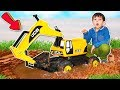 Download  Excavator Jcb Stuck In The Mud Funny Baby Rescues Excavator Bulldozer  | Toys 2 Boys  MP3,3GP,MP4