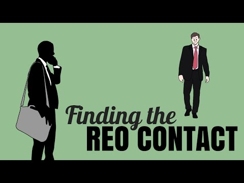 How to find the bank REO conact - the actual decision maker