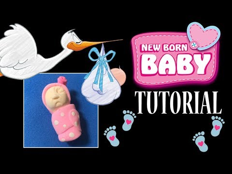 HOW TO MAKE A NEWBORN BABY FAVOR TUTORIAL  | CLAY CRAFT  DIY | BABY SHOWER | Cup n Cakes Gourmet