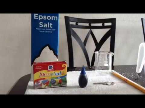 Making Salt Crystals with Epsom Salt