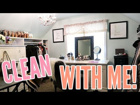 CLOSET ORGANIZATION & CLEAN WITH ME! PART 1