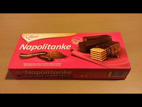 Napolitanke - Kakao krem i kakao preliv / Wafers - Cocoa cream and cocoa coating