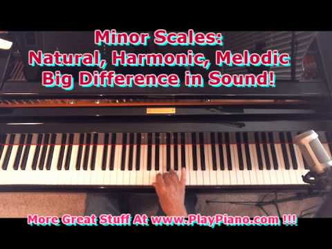 3 Kinds Of Minor Scales: Natural, Harmonic & Melodic