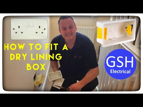 Electrical Practical Skills How to Fit a Dry Lining Box in a Stud Plasterboard Wall