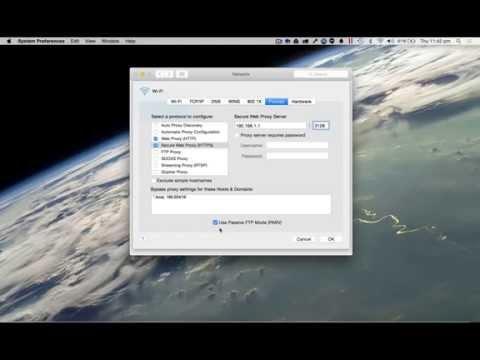 How to Change Proxy Settings on Mac (Yosemite)