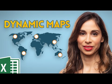 Simple Excel Dynamic Map Chart with drop-down (conditionally formats the largest values)