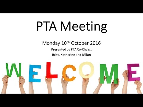 Coombe Hill Junior School PTA Presentation Video 20161010