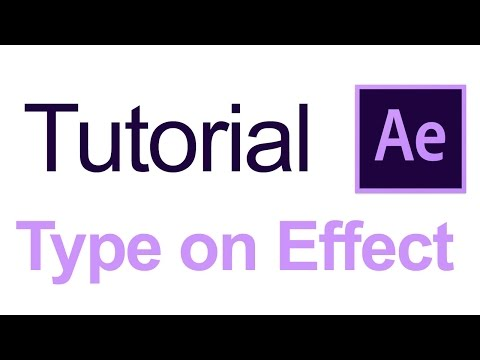 Typewriter Effect - After Effects