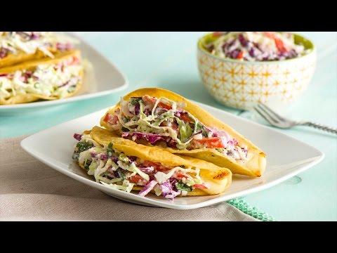 Crispy Potato & Cheese Tacos