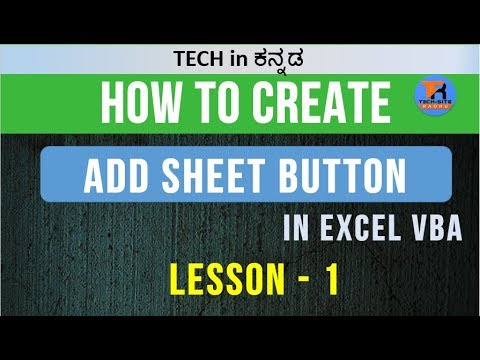 VBA code for Adding, Deleting, and Renaming the excel sheet    Lesson 4 of 1