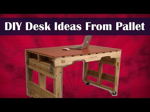 DIY Desk Ideas From Pallet