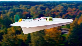 Paper Airplane with DC Motor