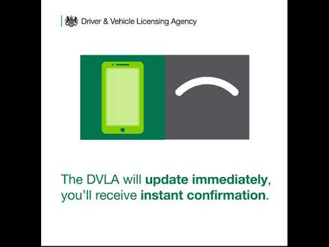 Tell DVLA about a sale of a vehicle online