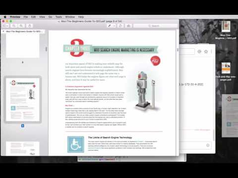 How To Save One Page Of A PDF Document - Mac Only