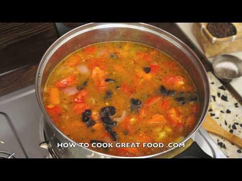 Classic Fresh Tomato Soup Recipe - Italian Herbs Basil Oregano