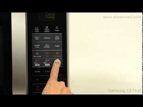 Samsung Ce73jd Convection Microwave Oven How To Fast Pre Heat The Oven