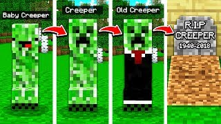 CREEPERS LIFE IN MINECRAFT! (FROM BIRTH TO DEATH)