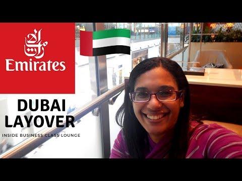 Dubai business class lounge layover