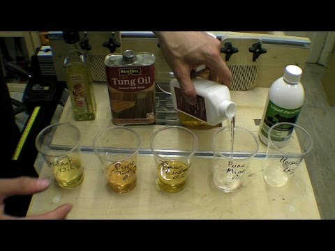 Five Food Safe Oils - Wood Finishes Testing Surface - Part 2