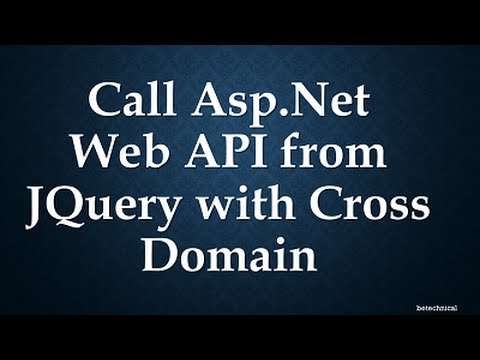 Call Asp.Net Web API from JQuery with Cross Domain
