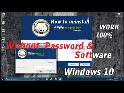Uninstall Deep Freeze - How to Uninstall Deep Freeze Without Password  in Windows 10 ( Work 100% )