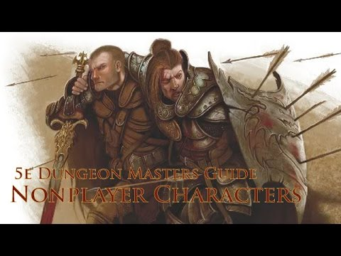 NPCs for RPGs from the 5e DMG|Dungeons and Dragons 5th Edition
