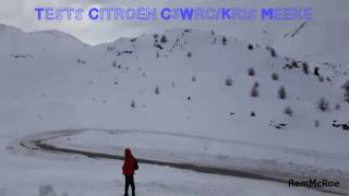 Tests Snow Monte-Carlo 2017 Citroen C3 Wrc /Kris Meeke
