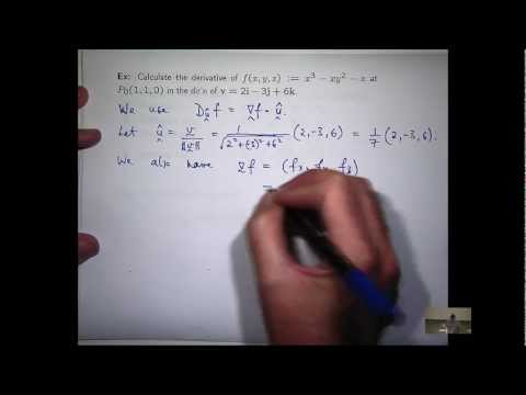 Directional derivative example