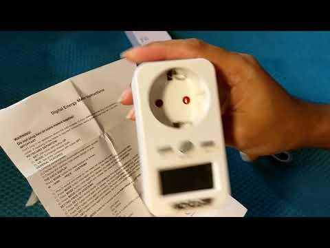 Energy Monitor Power Meter Plug-in Digital LCD
