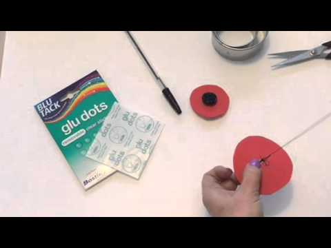 Tutorial: Remembrance Poppy Pin