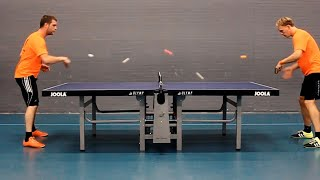 Guys Play Ping Pong With FIVE Balls | Racquet Sports Compilation