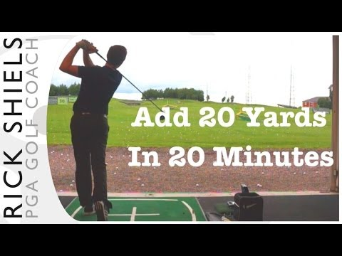 DRIVE THE GOLF BALL 20 YARDS FURTHER IN 20 MINS