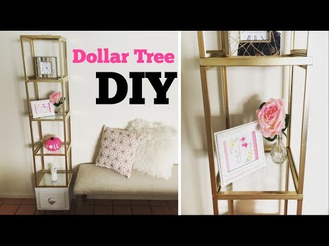 Dollar tree DIY/Glass shelf unit collab with coupontoprovide
