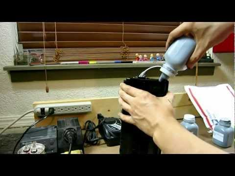 How to refill Samsung ML-1740 laser printer toner cartridge - ML1740 ML1710 ML1510 1710 1510