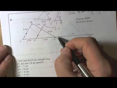 Sample Higher Non Calc Q11   Similar Shapes and Linear Scale Factor