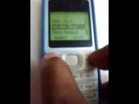 How to set time on your nokia mobile model 1200.
