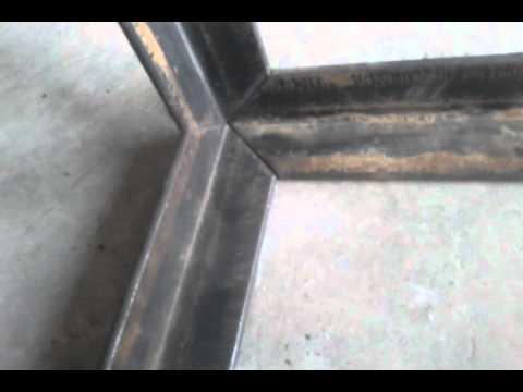 Mitered Corner Cut on Ironworker - 2