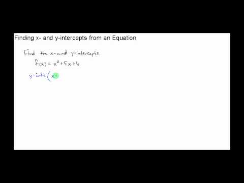 College Algebra - Section 3.2 - Video 1 - Finding the x and y intercepts of a Quadratic Function